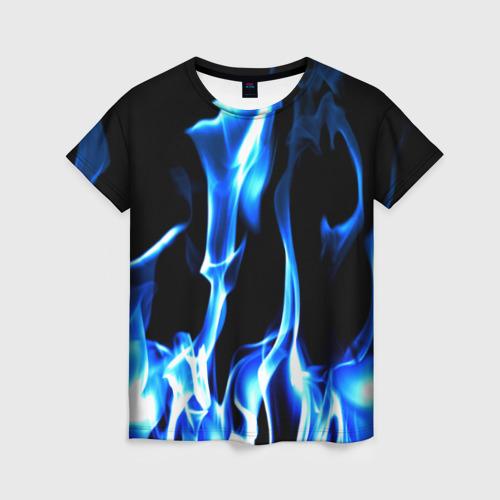 Женская футболка 3D Огонь Фото 01