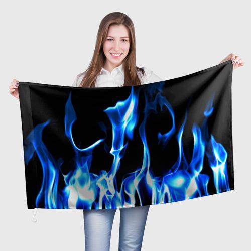 Флаг 3D Огонь Фото 01