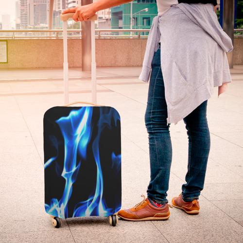 Чехол для чемодана 3D Огонь Фото 01