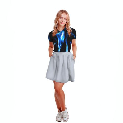 Женская рубашка поло 3D Огонь Фото 01