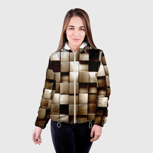 Женская куртка 3D  Фото 03, Кубики