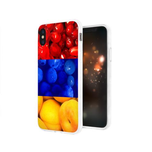 Чехол для Apple iPhone X силиконовый глянцевый Флаг Армении Фото 01