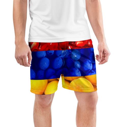 Мужские шорты 3D спортивные  Фото 03, Флаг Армении