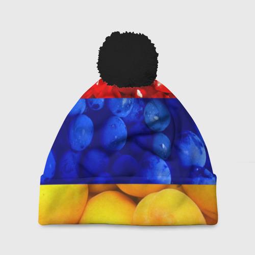 Шапка 3D c помпоном Флаг Армении