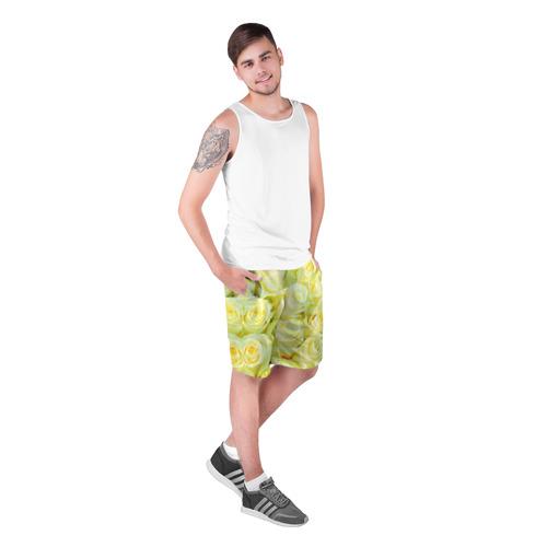 Мужские шорты 3D  Фото 03, Белые розы