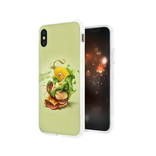 Чехол для Apple iPhone X силиконовый глянцевый  Фото 03, Правильное питание