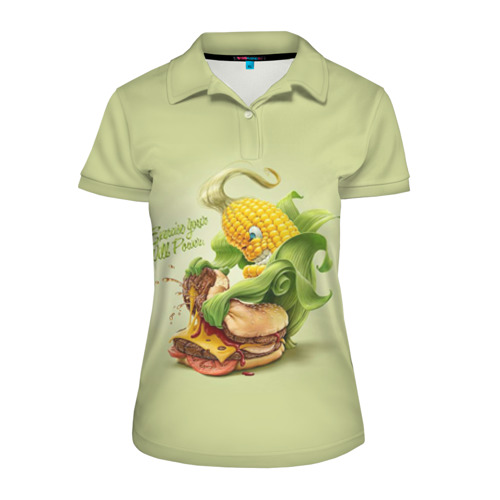 Женская рубашка поло 3D  Фото 01, Правильное питание