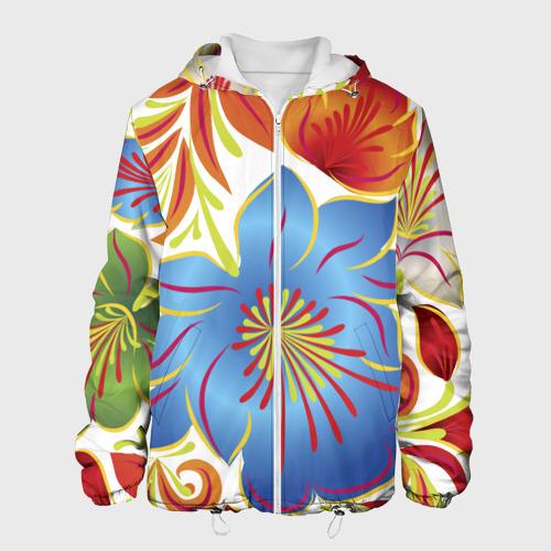 Мужская куртка 3D  Фото 01, Цветы