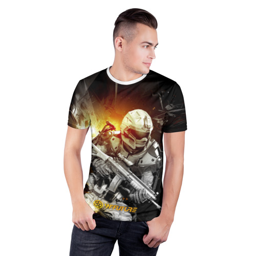Мужская футболка 3D спортивная  Фото 03, WFFuture Exo Future Soldier