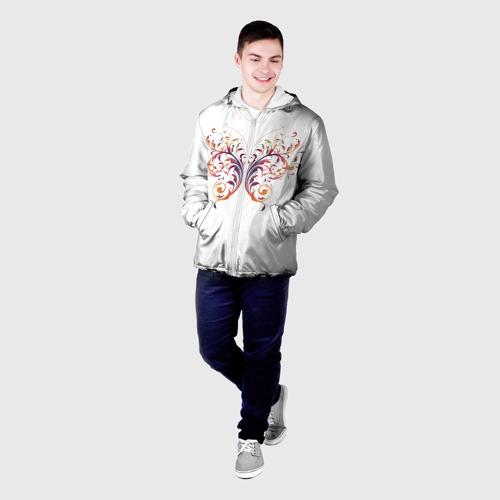 Мужская куртка 3D  Фото 03, Узор бабочка