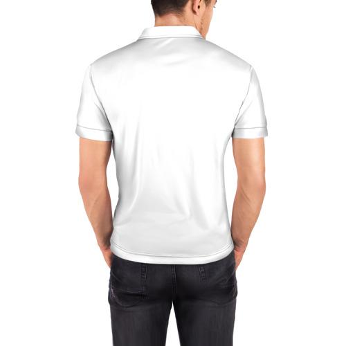 Мужская рубашка поло 3D  Фото 04, Узор бабочка