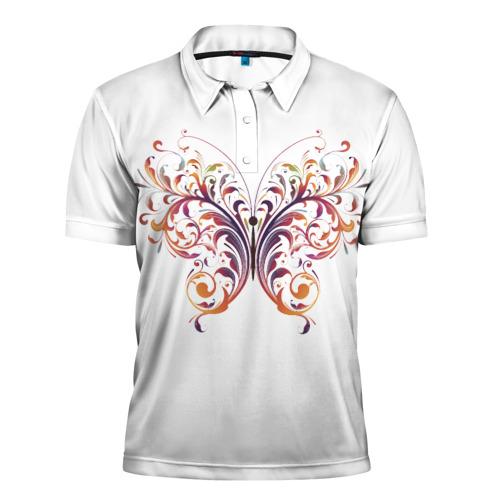 Мужская рубашка поло 3D  Фото 01, Узор бабочка