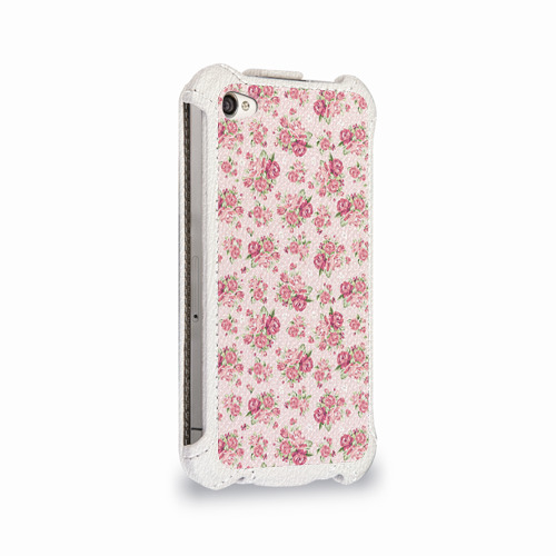Чехол для Apple iPhone 4/4S flip  Фото 02, Fashion sweet flower