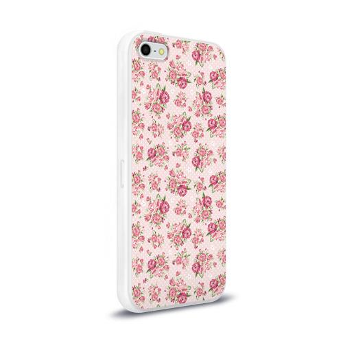 Чехол для Apple iPhone 5/5S силиконовый глянцевый Fashion sweet flower Фото 01