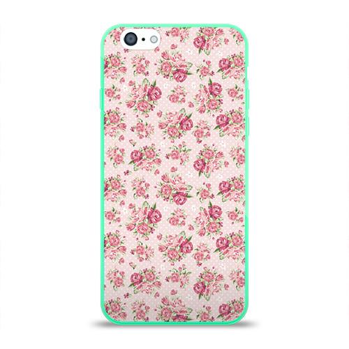 Чехол для Apple iPhone 6 силиконовый глянцевый Fashion sweet flower Фото 01