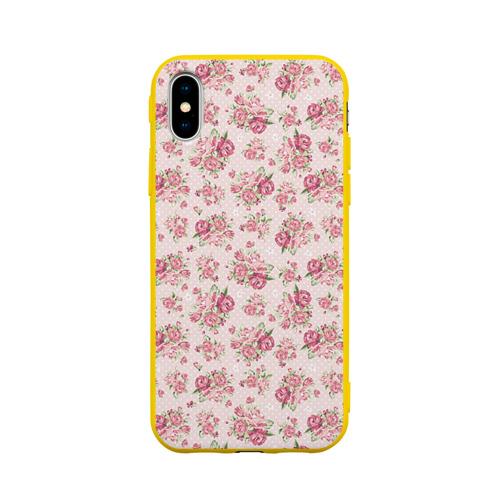 Чехол для Apple iPhone X силиконовый матовый Fashion sweet flower Фото 01