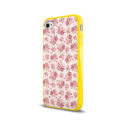 Чехол для Apple iPhone 4/4S силиконовый глянцевый Fashion sweet flower Фото 01