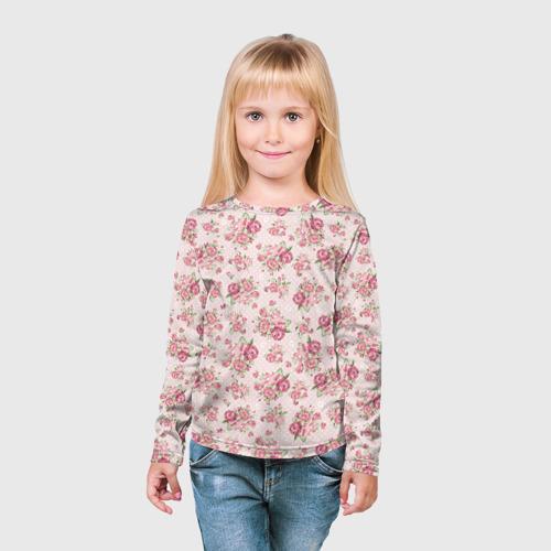 Детский лонгслив 3D Fashion sweet flower Фото 01