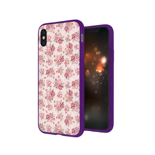 Чехол для Apple iPhone X силиконовый глянцевый Fashion sweet flower Фото 01