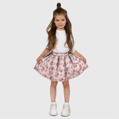 Детская юбка-солнце 3D Fashion sweet flower Фото 01