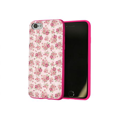 Чехол для Apple iPhone 8 силиконовый глянцевый Fashion sweet flower Фото 01