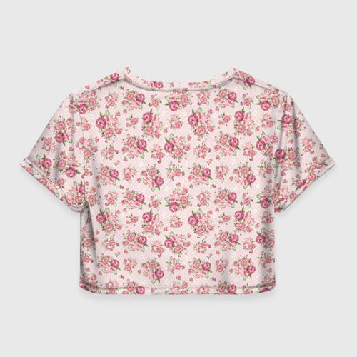 Женская футболка 3D укороченная  Фото 02, Fashion sweet flower
