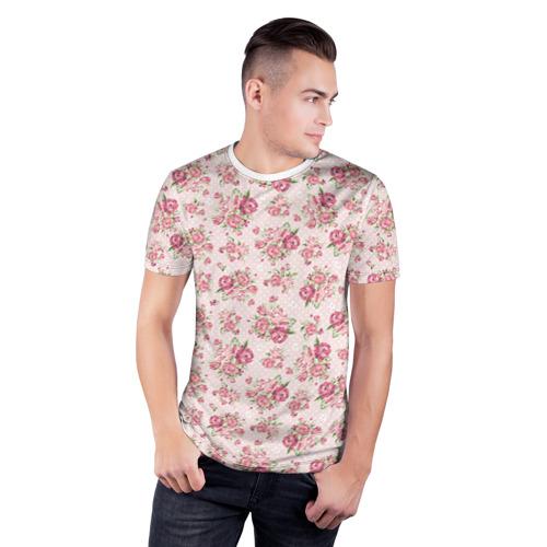 Мужская футболка 3D спортивная Fashion sweet flower Фото 01