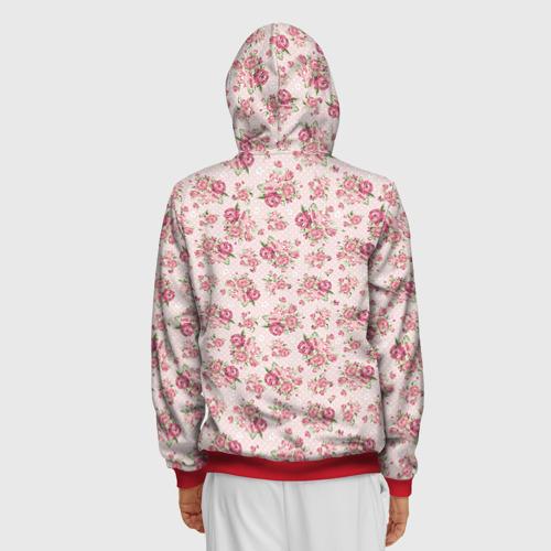 Мужская толстовка 3D на молнии Fashion sweet flower Фото 01