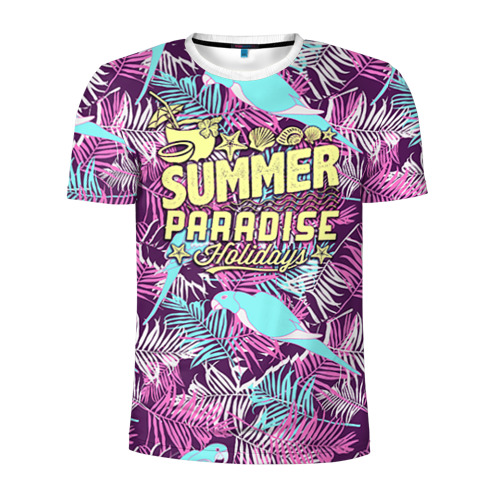 Мужская футболка 3D спортивная  Фото 01, Summer paradise 2