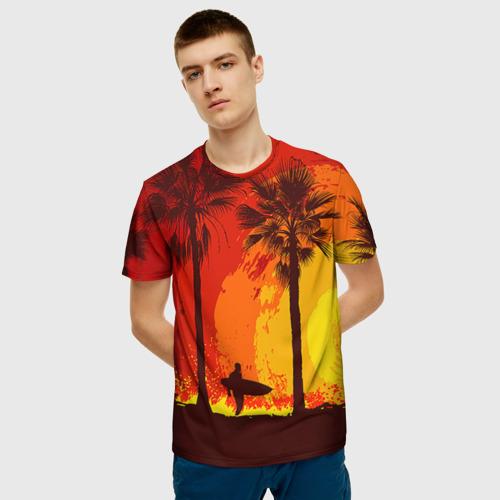 Мужская футболка 3D Summer Surf Фото 01
