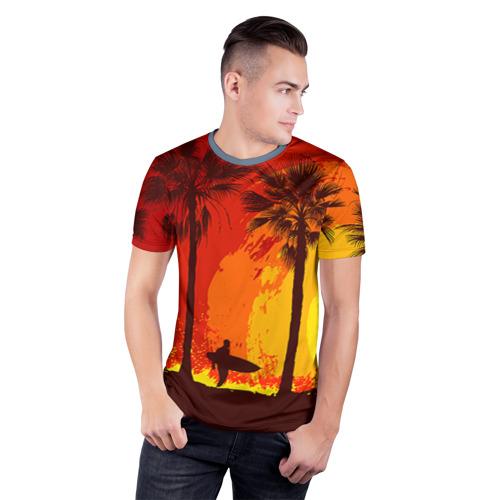 Мужская футболка 3D спортивная Summer Surf Фото 01