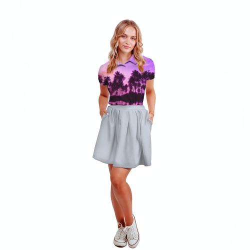 Женская рубашка поло 3D Hawaii dream Фото 01