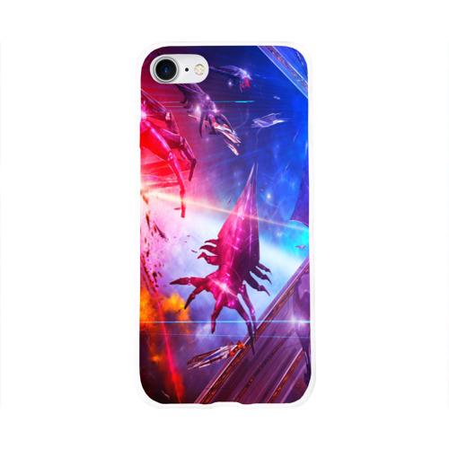 Чехол для Apple iPhone 8 силиконовый глянцевый  Фото 01, Mass effect
