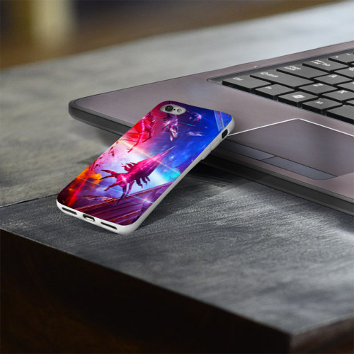 Чехол для Apple iPhone 8 силиконовый глянцевый  Фото 03, Mass effect