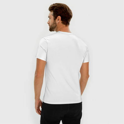 Мужская футболка премиум  Фото 04, Муми-Тролль бежит за Стинки
