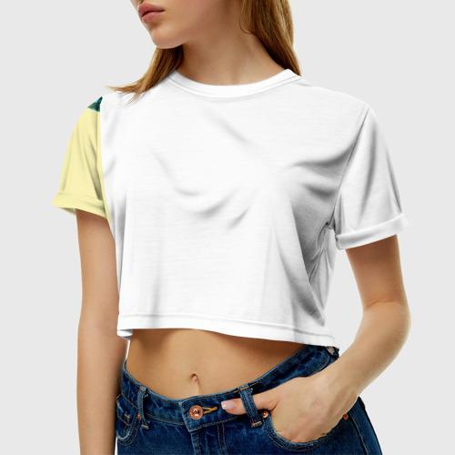 Женская футболка 3D укороченная  Фото 01, Palm beach