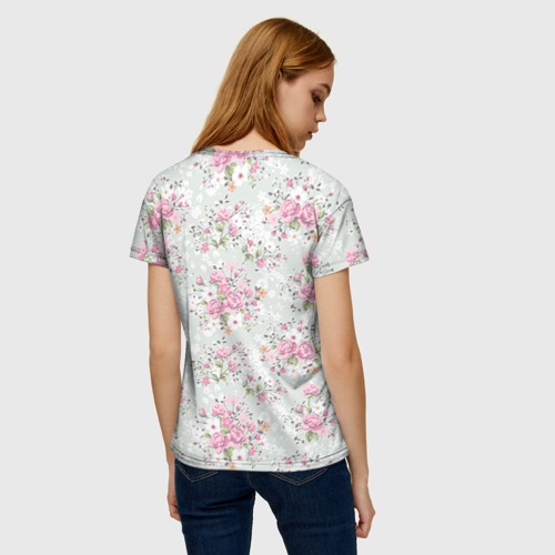 Женская футболка 3D Flower pattern Фото 01