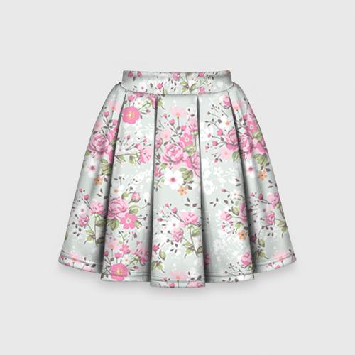 Детская юбка-солнце 3D  Фото 01, Flower pattern