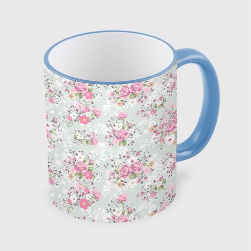 Кружка с полной запечаткой Flower pattern