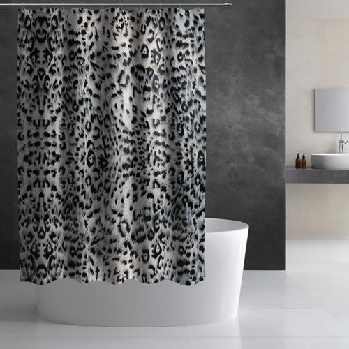Штора 3D для ванной  Фото 02, White Jaguar
