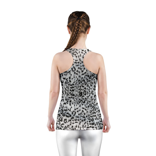 Женская майка 3D спортивная  Фото 04, White Jaguar