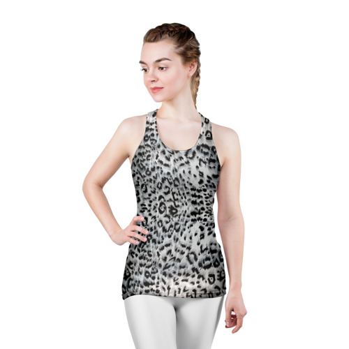 Женская майка 3D спортивная  Фото 03, White Jaguar