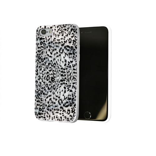 Чехол для Apple iPhone 8 силиконовый глянцевый  Фото 02, White Jaguar