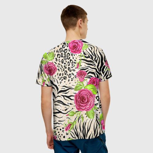 Мужская футболка 3D Зебра Фото 01