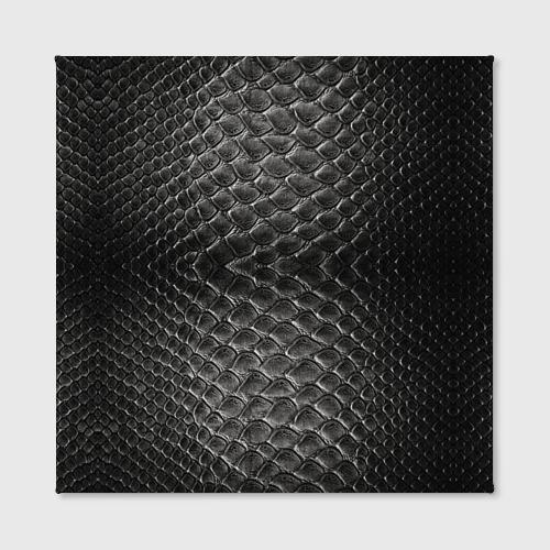 Холст квадратный  Фото 02, Черная кожа