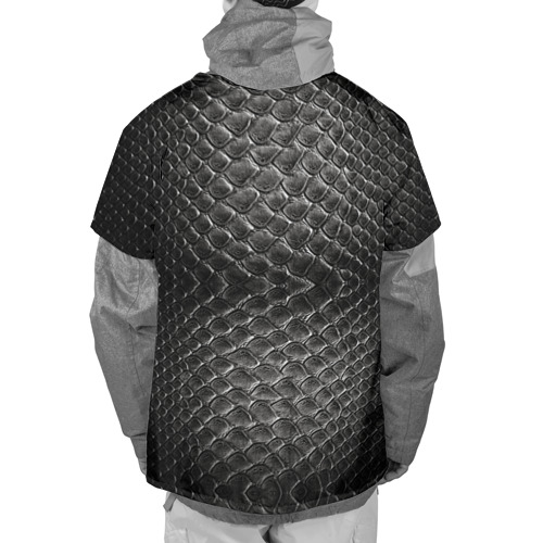 Накидка на куртку 3D  Фото 02, Черная кожа
