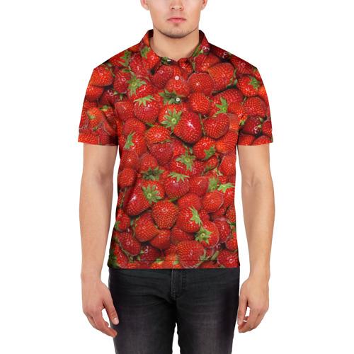 Мужская рубашка поло 3D Клубнички Фото 01
