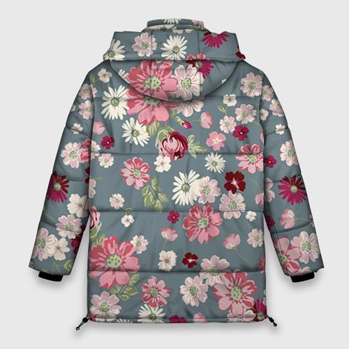 Женская зимняя куртка 3D Цветочки Фото 01