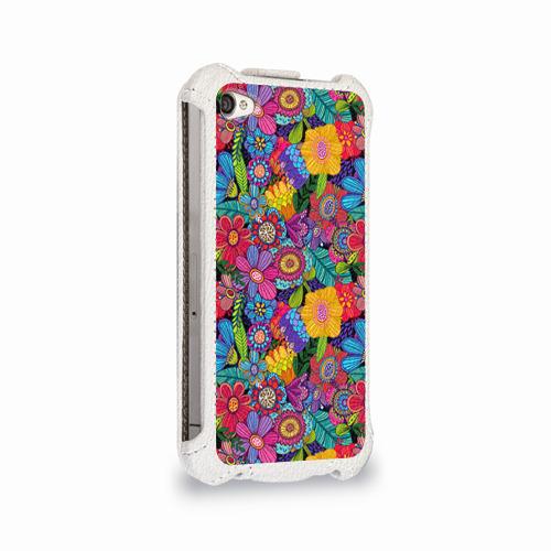 Чехол для Apple iPhone 4/4S flip  Фото 02, Яркие цветы