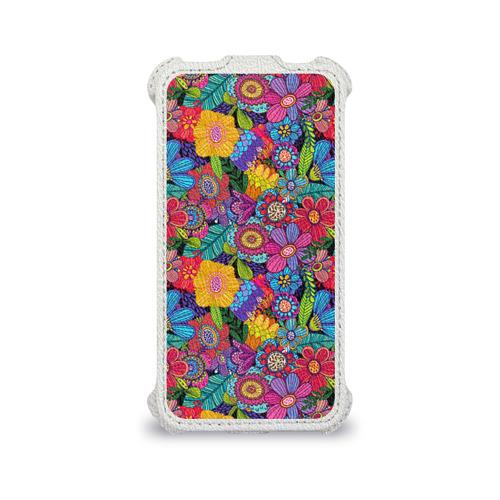 Чехол для Apple iPhone 4/4S flip  Фото 04, Яркие цветы